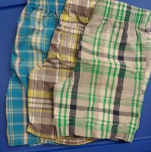 3 Pairs of Striped Shorts Sz. 3T